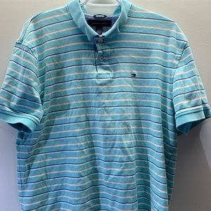 Tommy Hilfiger Striped Polo Tee Mens XL